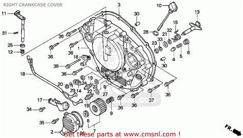 honda fourtrax 300 parts diagram honda trx300ex fourtrax 300ex 1994 r usa right crankcase
