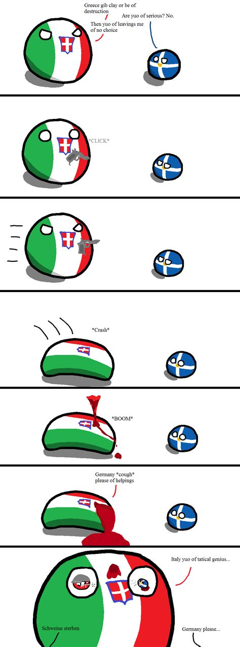 Happiest States The Greco Italian War In A Nutshell Polandball