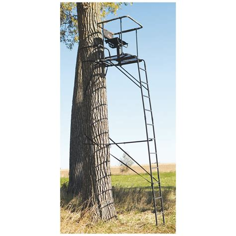 tree stands big infinity 16 ladder tree stand 229430 ladder