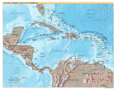 central map central america map central america mappery