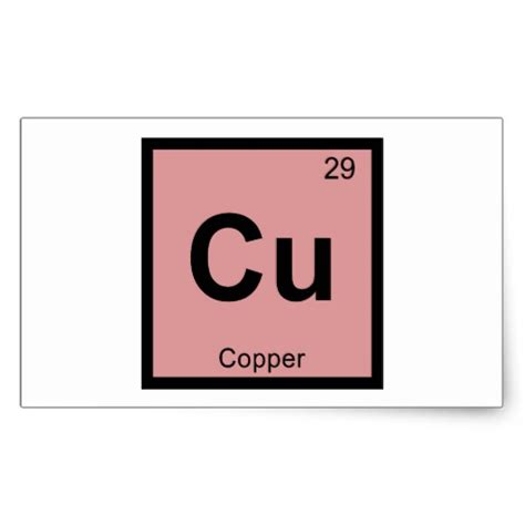 Cu On Periodic Table by Cu Copper Chemistry Periodic Table Symbol Rectangular