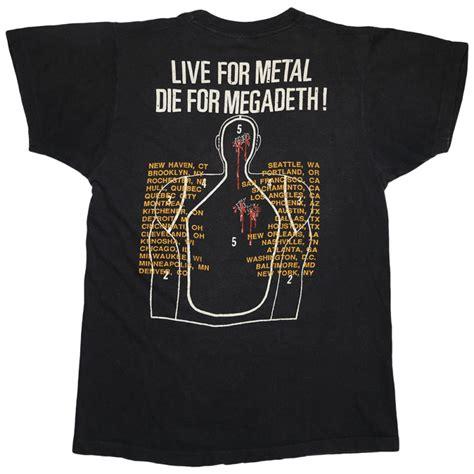 Megadeth T Shirt2 megadeth i kill for thrills tour shirt 1986 wyco vintage