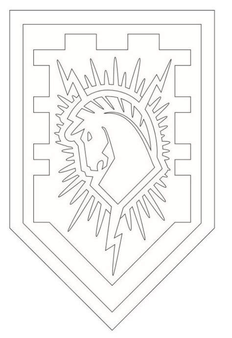 coloring page of a knight s shield kids n fun com coloring page lego nexo knights shields 1
