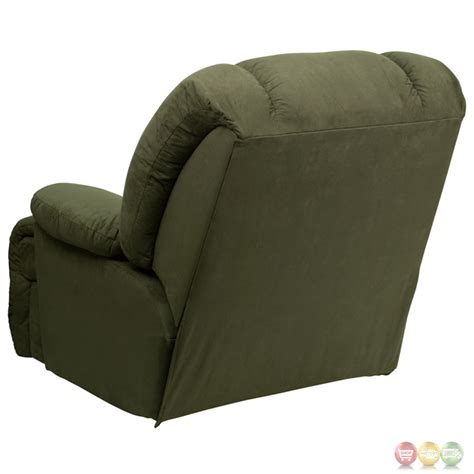 chaise rocker recliner contemporary glacier olive microfiber chaise rocker recliner