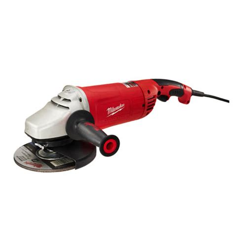 Angle Grinder 570 W Iwara 15 7 9 in large angle grinder w lock on milwaukee electric tools 6088 3