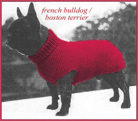pug jumper knitting pattern knitting pattern for sweater to fit a bulldog or pug from dollyknitts on
