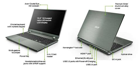 Laptop Acer Slim Aspire M5 Acer Aspire M5 581t 15 6 Inch Laptop Silver Intel I5 3317u Ram 6gb Hdd 500gb Dvdsm Dl