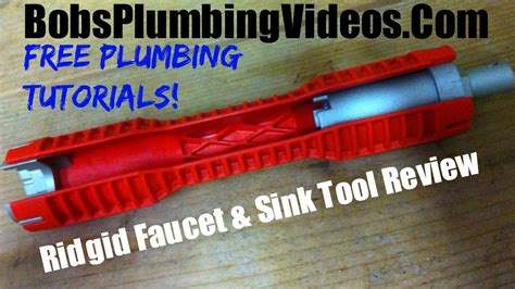 How To Remove Kitchen Sink Faucet cool tool from ridgid faucet and sink wrench youtube