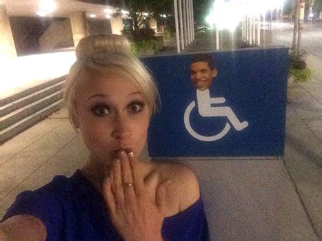 Drake S Face Plastered On - drake s face plastered on wheelchair signs in toronto