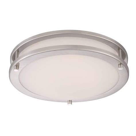 Led Low Bay 35 Watt I Hemat hton bay 11 8 in 120 watt equivalent brushed nickel
