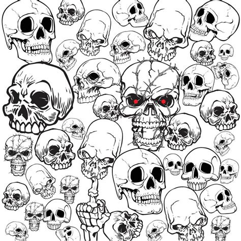 tattoo design templates free set of vector skull illustrations and templates for your