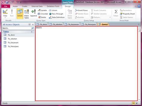 cara membuat query di access membuat query di microsoft access 2010 belajar query