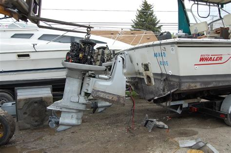 motor boat put to sea omc sea drive to standard outboard the hull truth