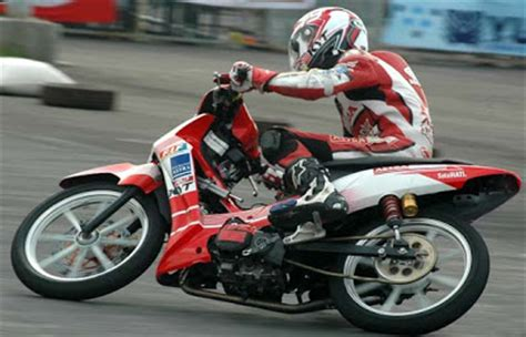 Alarm Motor Supra drag race modifikasi honda supra x 125 oto trendz