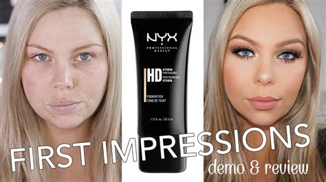 Review Dan Foundation Nyx nyx hd studio foundation impressions review