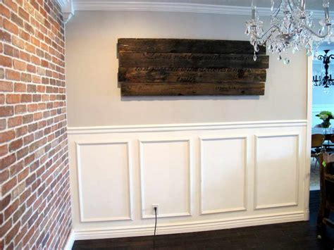 How To Design Wainscoting Walls Lowes Wainscoting Design With Brick Walls Various