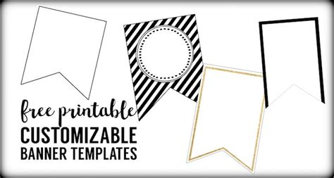 Free Printable Banner Templates Blank Banners Paper Trail Design Free Printable Banner Templates For Word