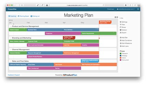 marketing plans template three exle marketing roadmaps