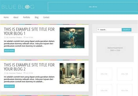 blog themes with ad space blue blog blogger template 2014 free download
