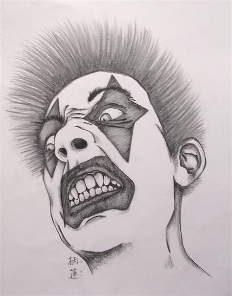 the gallery for gt evil clown tattoos drawings the gallery for gt evil gangster clown drawings