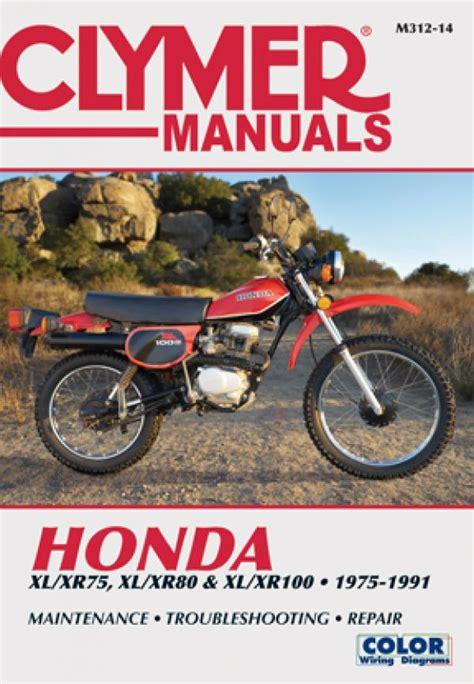 Honda Xl Xr75 Xl Xr80 Amp Xl Xr100 Series Motorcycle 1975