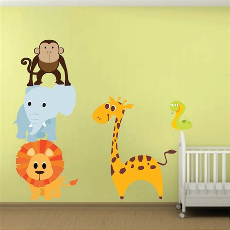 nursery wall decals animals animal wall stickers for nursery peenmedia