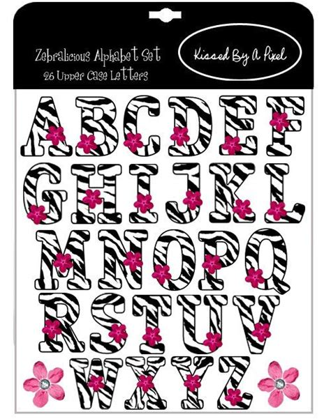zebra printable alphabet only zebra print letters a z zebra print digital scrap