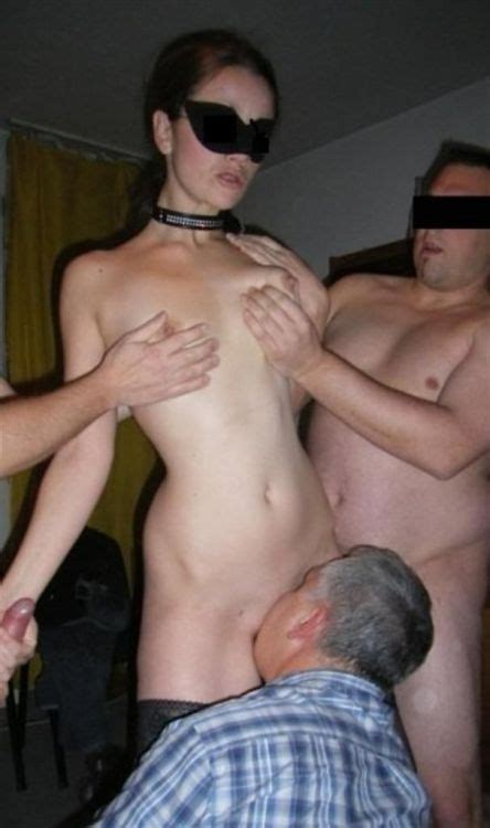 Wife blindfolded At party Cumception