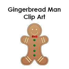 gingerbread man template clipart coloring page  kids