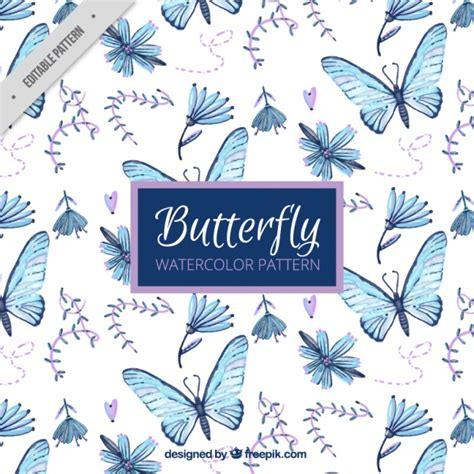 hand painted flower pattern pattern of hand painted butterflies and flowers vector