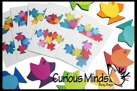 tessellation fish template pattern matching activities curious minds busy bags