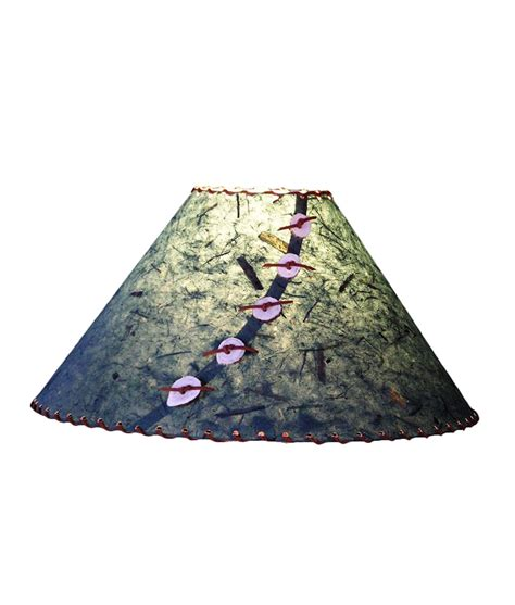 Handmade Paper Lshades - forest green l shade rustic artistry