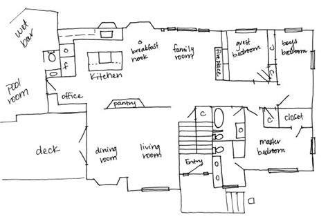 Drawing Floor Plans By Hand by Floor Plan Our Humble Abode