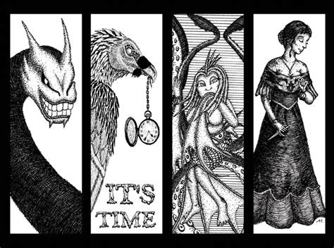Their Black Bookmarks by Black And White Bookmarks By Mischievouspooka On Deviantart