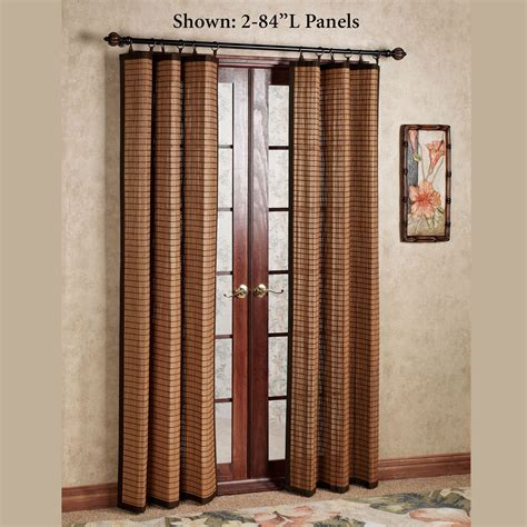 Bamboo Panel Curtains with Bamboo Ring Top Curtain Panels