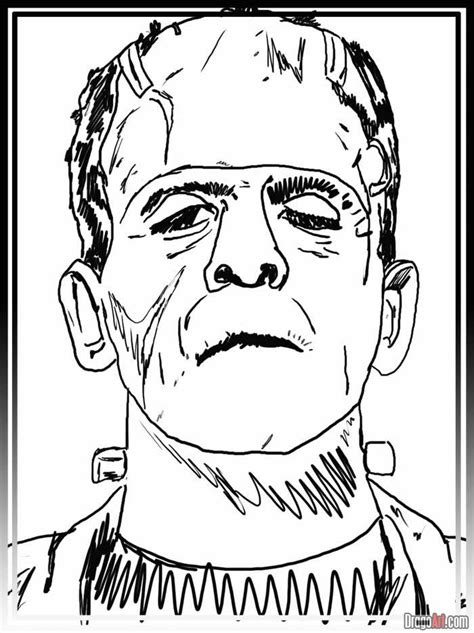 How to Draw Frankenstein, Step by Step, Frankenstein