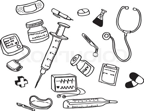 coloring page doctor tools doctor tools clipart black and white letters exle
