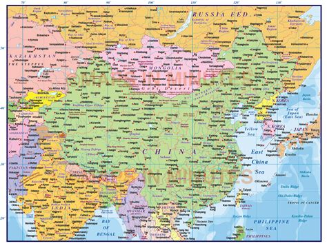 political map of china with cities digital vector china political country map level