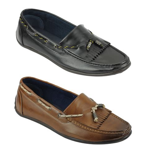 low cut loafers new mens faux leather low cut kilted loafers vintage