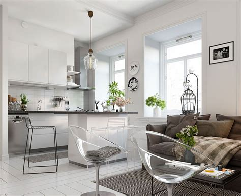 small apartment decor bright scandinavian decor in 3 small one bedroom apartments