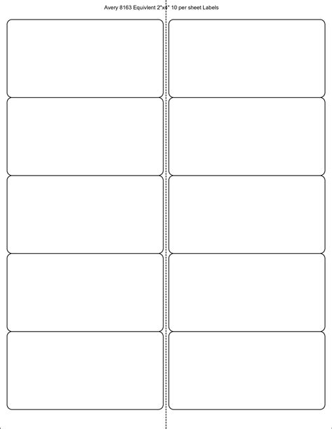avery 10 labels per sheet template avery labels 8163 template