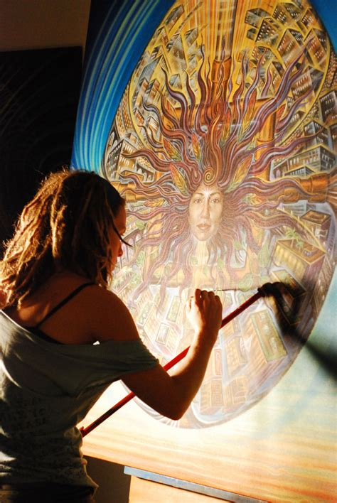 amanda sage visionary artist using her painting as a
