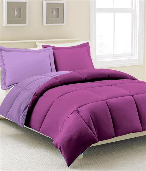 plain purple comforter kiaana purple plain polyester comforter microfiber buy