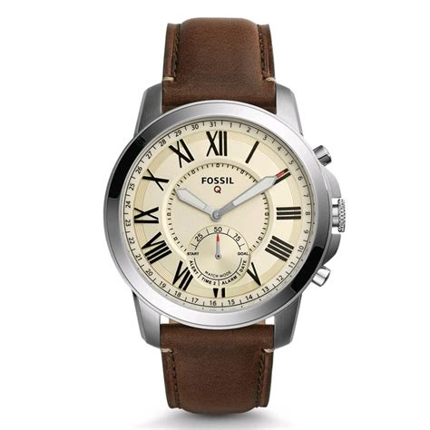 Fossil Rantai Tanggal Silver Cover Black fossil q grant hybrid smartwatch 44mm silver brown leather band expansys australia