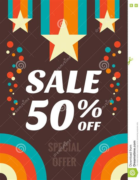Sharma Designs 50 Sale by Vintage Sale 50 Vector Flyer Vertical Banner In