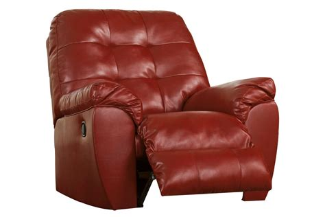 White Leather Rocker Recliner by Salsa Bonded Leather Rocker Recliner