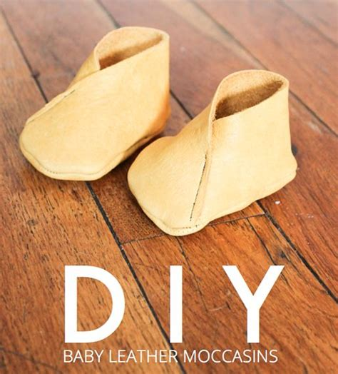 diy leather baby moccasins the world s catalog of ideas
