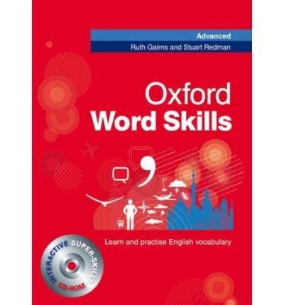 oxford word skills intermediate 0194620123 oxford word skills advanced student s pack book and cd rom ruth gairns 9780194620116