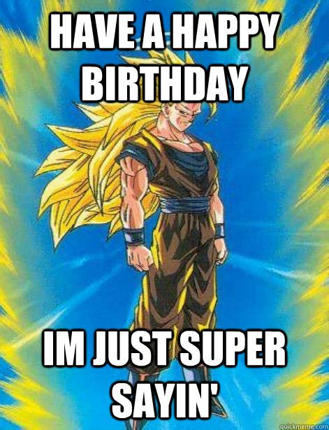 Dragon Ball Z Birthday Meme - official happy birthday thread dragonball figures toys