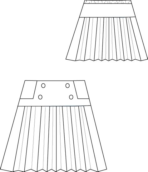 java pattern empty line blank slate schoolday skirt child s skirt downloadable pattern
